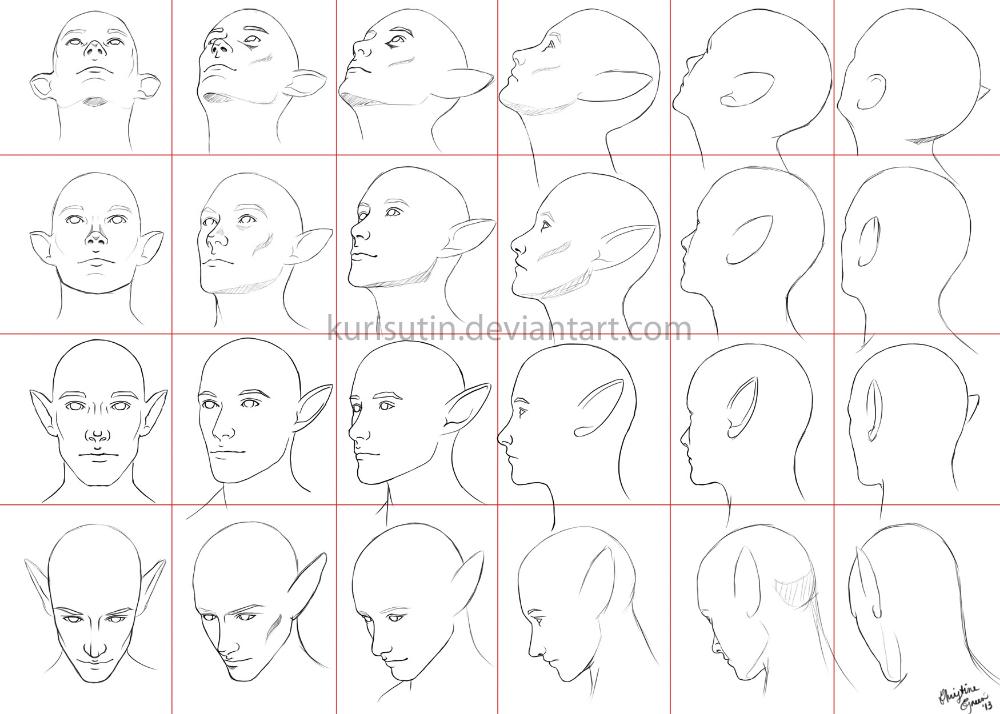 Anime Head Angles Head Angles Face Angles Drawing Heads