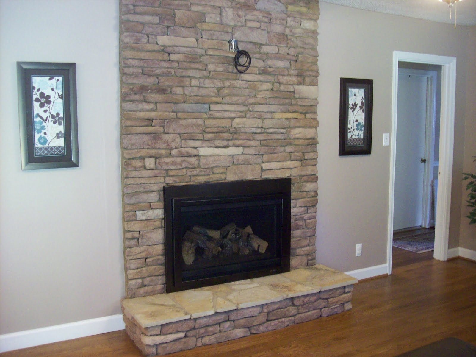 Stone Fireplace With Tv New Fireplace We Put Stone