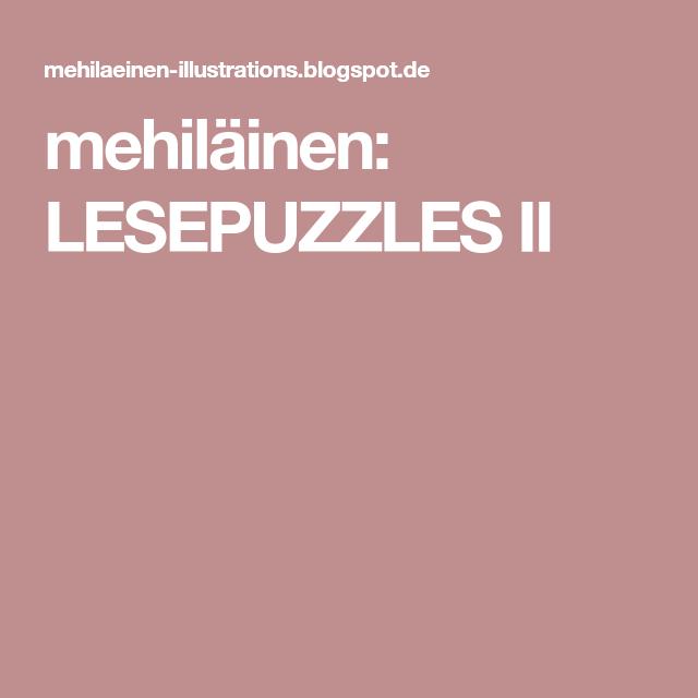 LESEPUZZLES II Motivieren, Schüler
