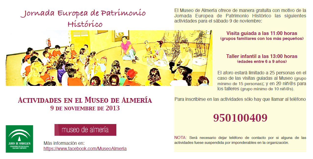 Jornadas Europeas de Patrimonio Histórico (Actividad del Museo de Almería, 9/11/2013)