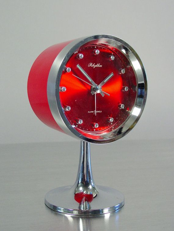 Atomic Alarm Clock Space Age Clock Mid Century By Clubmoderne