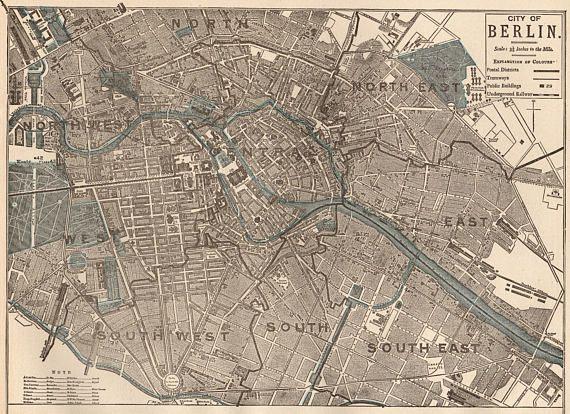 Antique BERLIN Map Vintage Map Of Berlin Germany Print Maps - Vintage map berlin