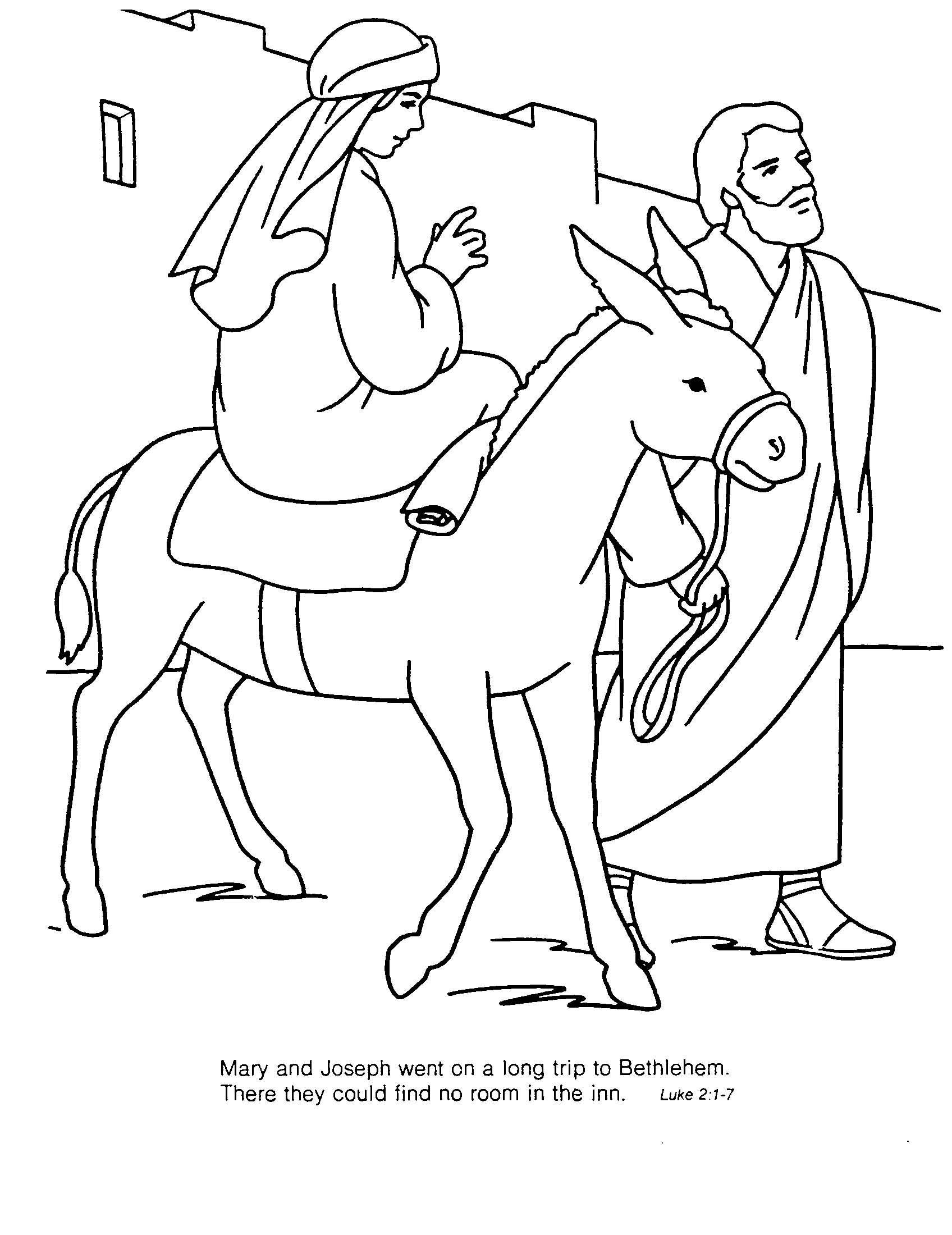 Coloring sheet mary and joseph bethlehem - Mary And Joseph Coloring Pages Az Coloring Pages