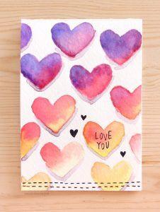 50 Thoughtful Handmade Valentines Cards Valentines Pinterest