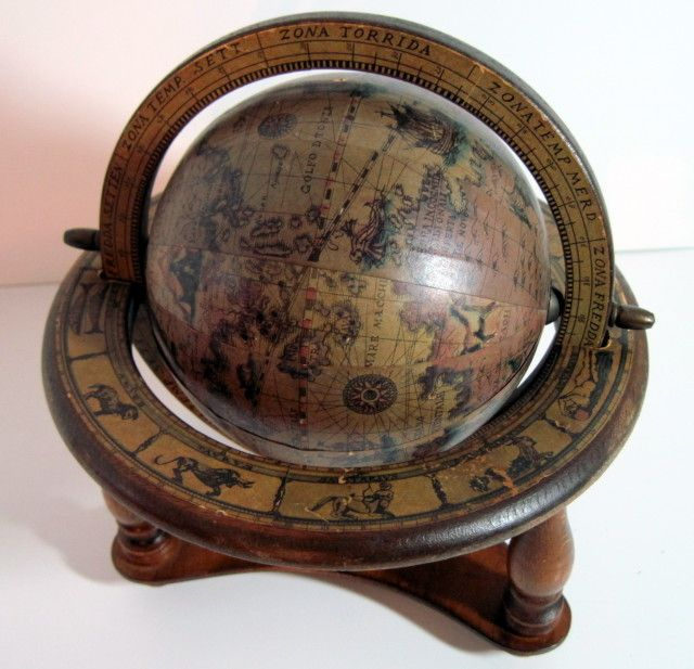 Old Globes On EBay | Details About Vintage Old World Decorative Globe  Tabletop Home Decor