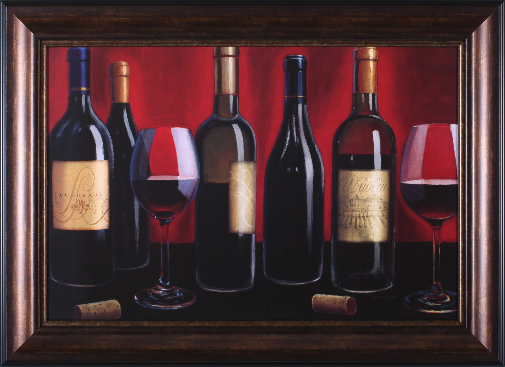 Grand Reserve By Marco Fabiano Framed Painting Print Tangletown Fine Art Wine Art Painting Prints