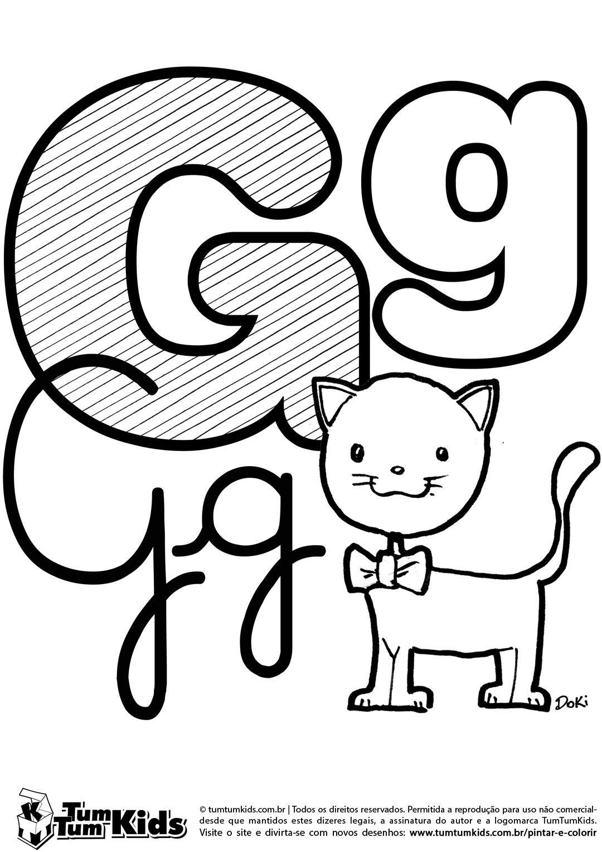 doki-alfabeto-letra-g-imprimir | Ensinando e aprendendo | Pinterest ...