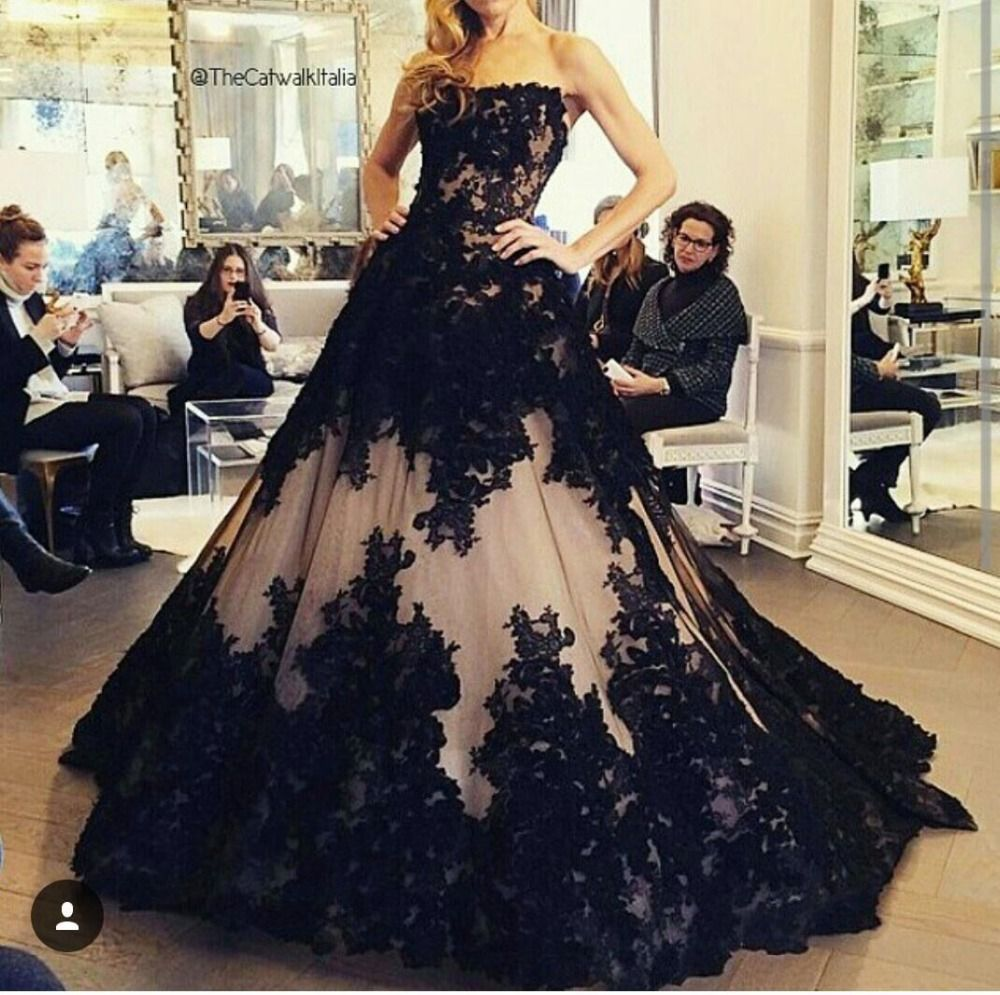 New Fashion Ball Gown Black Wedding Dress 2016 Off the shoulder Romantic Appliques Custom made Bridal Gown Vestido de festa-in Wedding Dresses from Weddings & Events on Aliexpress.com | Alibaba Group