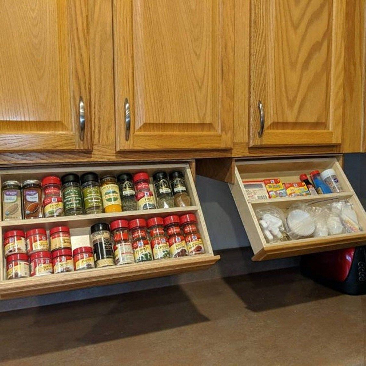 Kitchen Cabinet Organizers Corner And Pull Out Organizer Ideas In 2020 Cabinet Spice Rack New Kitchen Cabinets Kitchen Organization