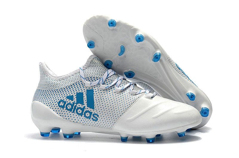 Men Adidas X 17 1 Leather FG 2018 Word Cup Football Boots