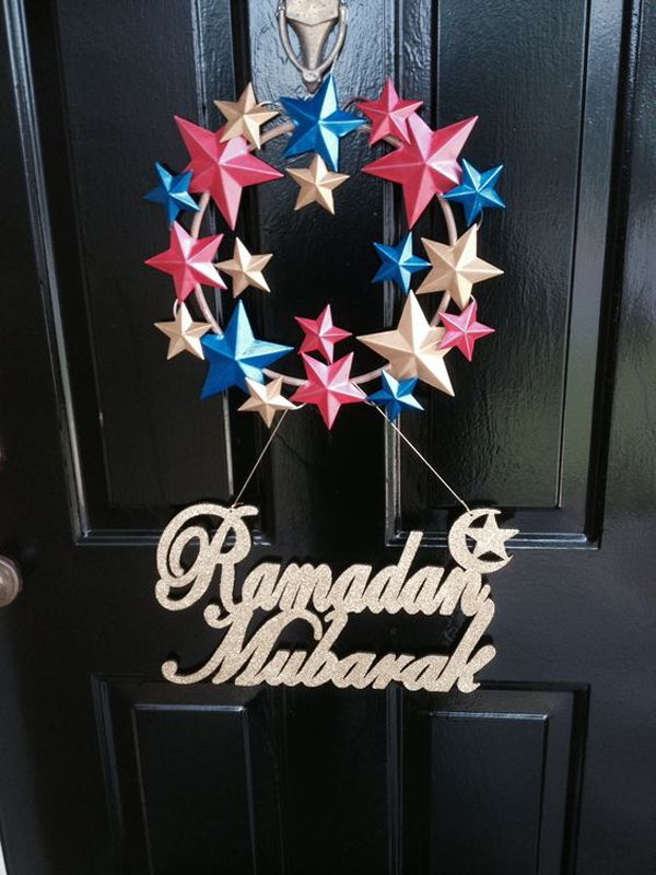 20 Awesome Wreath Doors For Eid And Ramadan زينه رمضان
