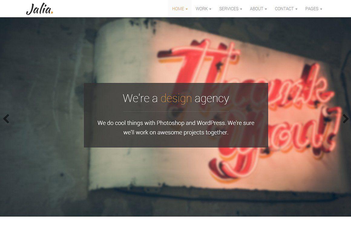 Jalia - Bootstrap Business Template #social#Elegant#icons