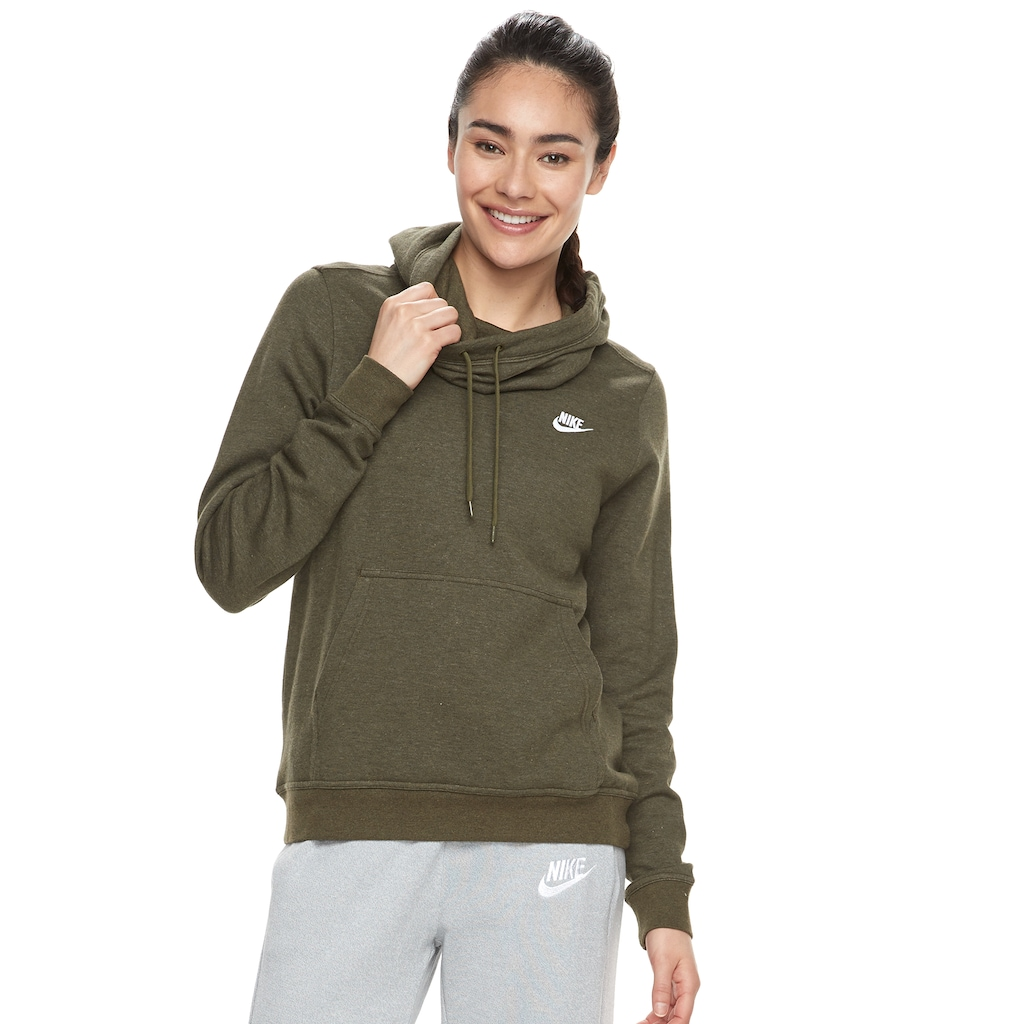 new authentic 50% off shades of Women's Nike Sportswear Funnel Neck Fleece Pullover Hoodie ...