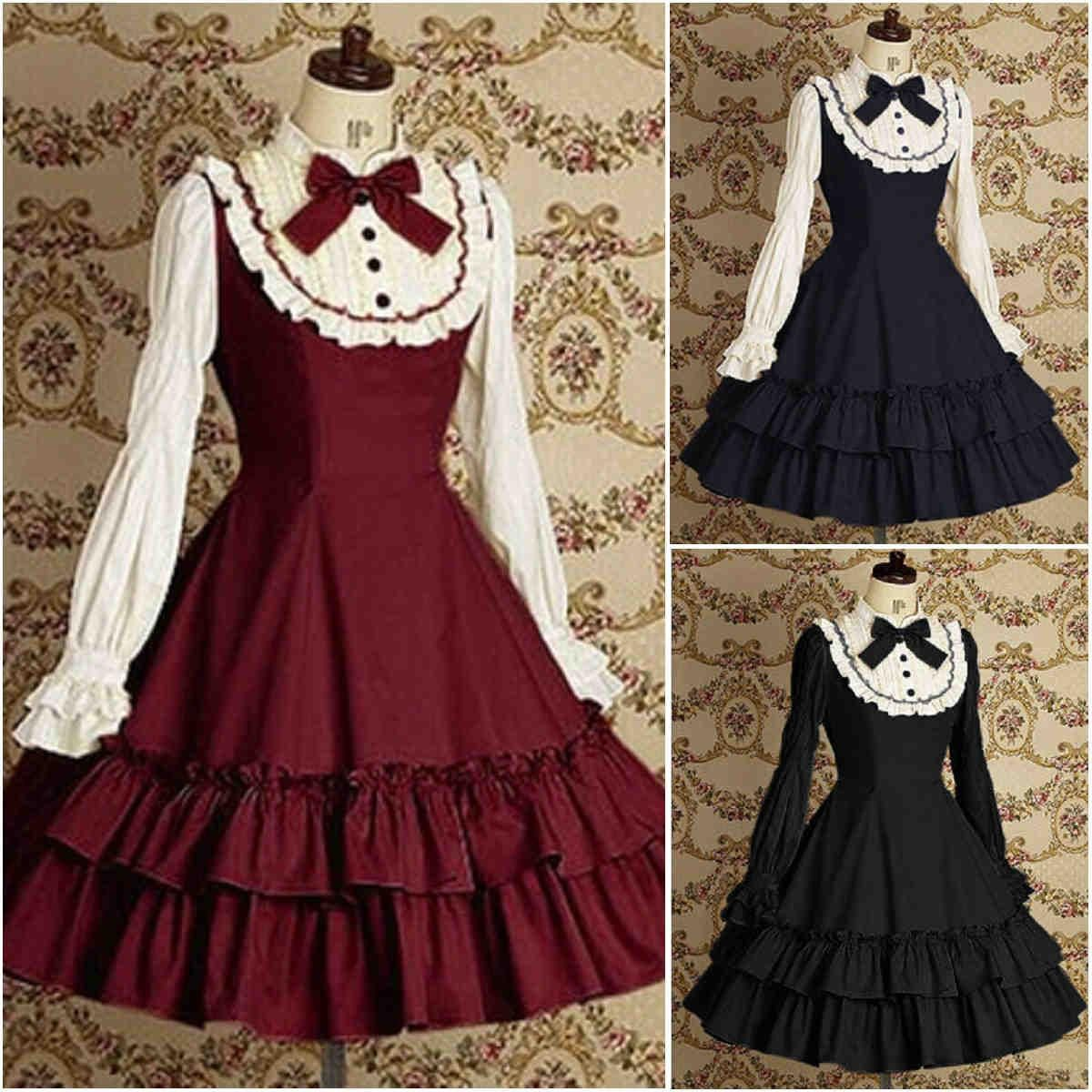 Discount Custom Made Vintage Victorian Medieval Style: Discount Anime Victorian Dresses