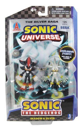 Shadow Silver 3 Mini Figures Sonic The Hedgehog Modern Comic Book Pack Series Exclusive Paint By Jazwares 28 Action Figures Sonic Shadow The Hedgehog