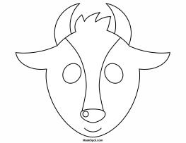 Goat Mask to Color  TEATRO  Mascaras 1  Pinterest  Goat mask