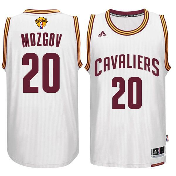 b96d0ba7b19e ... Cleveland Cavaliers 20 Timofey Mozgov 2015-16 Finals White Jersey ...