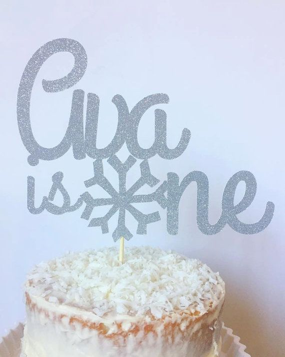 Personalized Name Birthday Cake Topper Winter By TheLittlePopShop