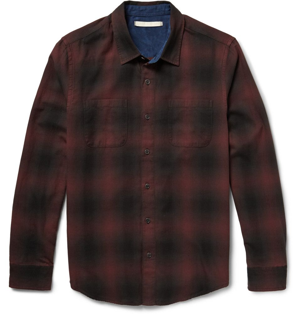 Mens hooded flannel jacket  Outerknown  Compass Check CottonFlannel Shirt  MR PORTER  Fall