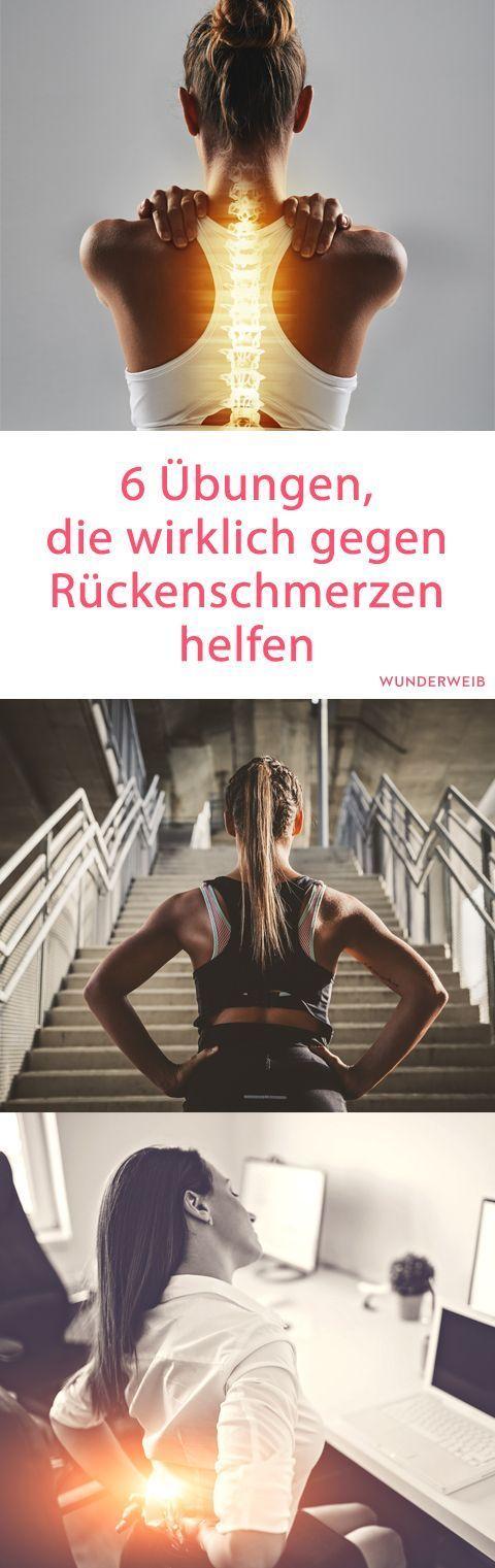 6 Übungen, die wirklich gegen Rückenschmerzen helfen | Wunderweib - Fitness - #die #Fitness #gegen #...