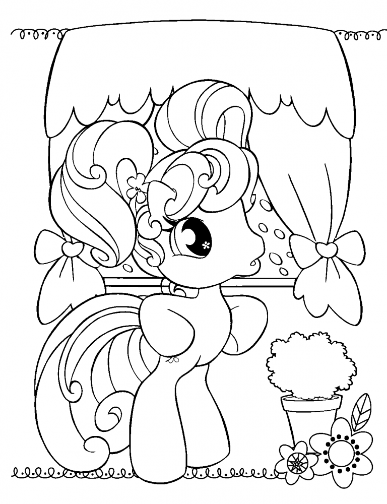 Free Printable My Little Pony Coloring Pages For Kids My Little Pony Coloring Cartoon Coloring Pages Cute Coloring Pages