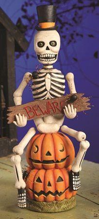 Beware Skeleton Greg Guedel For Bethany Lowe Designs Classy Halloween Vintage Halloween Decorations Bethany Lowe Halloween