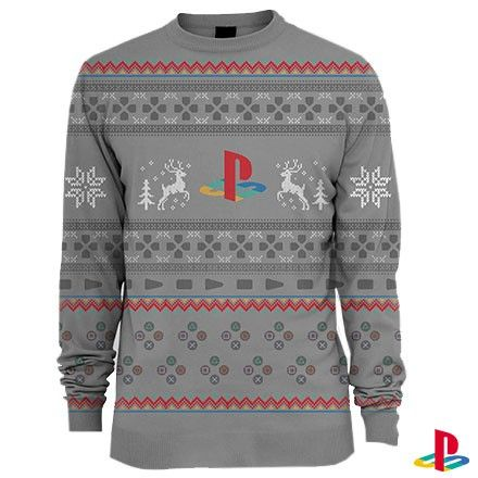 Sony ps1 playstation 1 christmas jumper 5299 gift ideas celebrate 20 years of play with this official original playstation christmas jumper negle Image collections