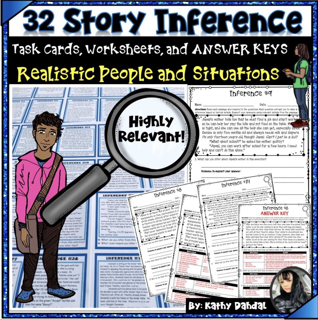 Inference Story Task Cards Worksheets And Answer Keys