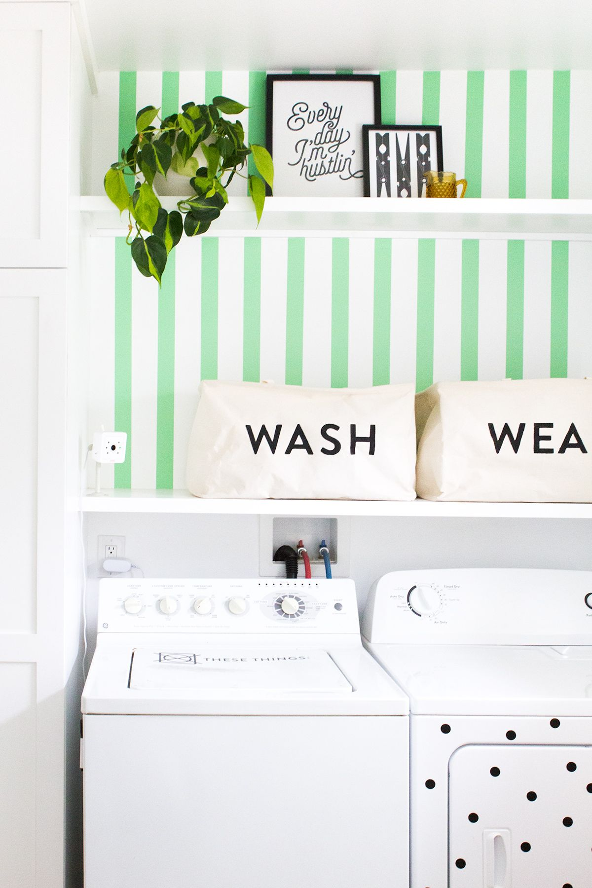 Home Tour Wallpaper Living Room Accent Wall Laundry Room Diy