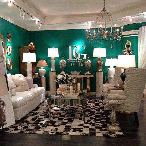 Emerald Green Accent Wall Living Room, Pilgrim Furniture Manchester