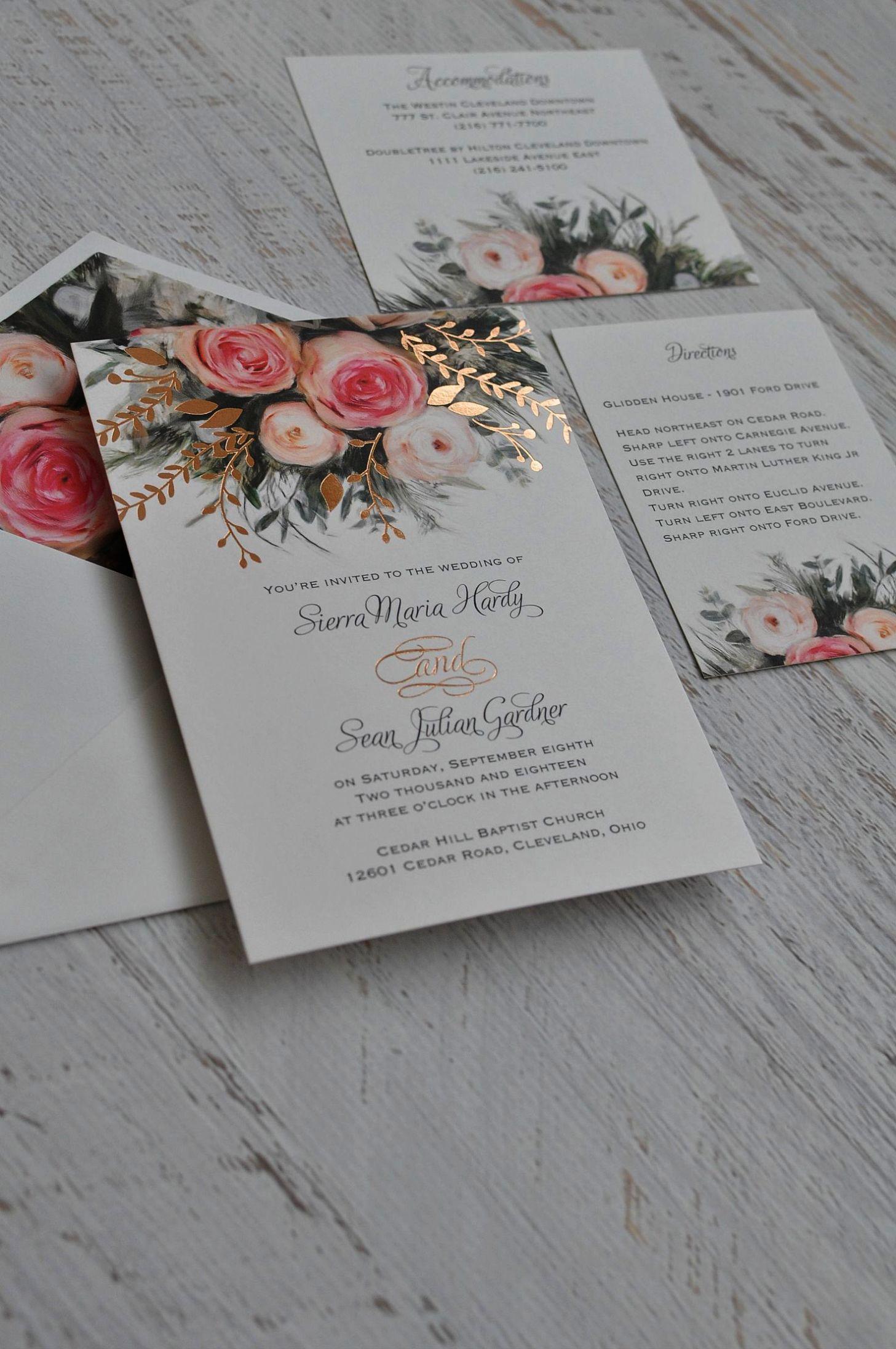 diy wedding invitations free downloads wedding invitations gold foil