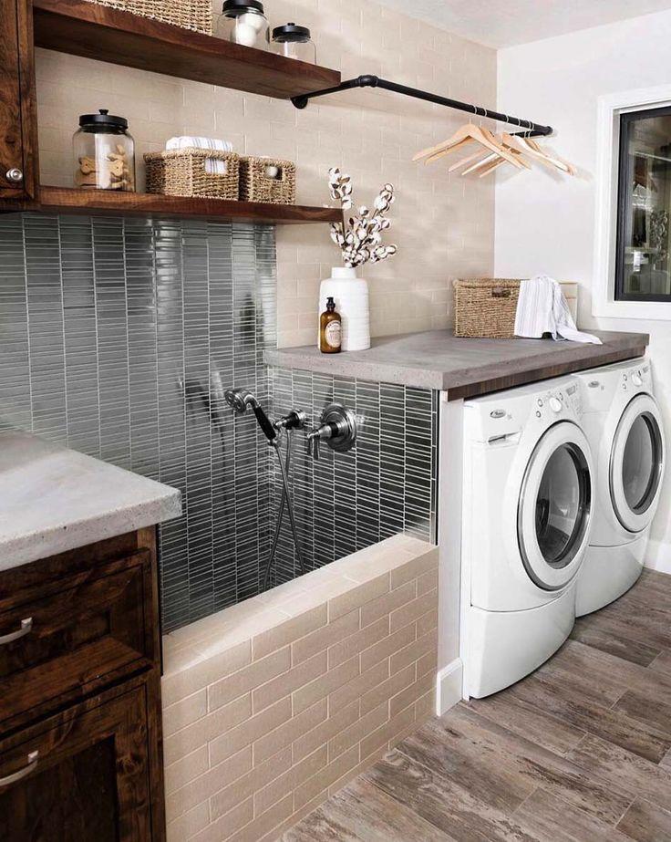 Photo of 38 Funktionelle und stilvolle Waschraumdesign-Ideen, die begeistern,  #begeistern #Buanderiea…