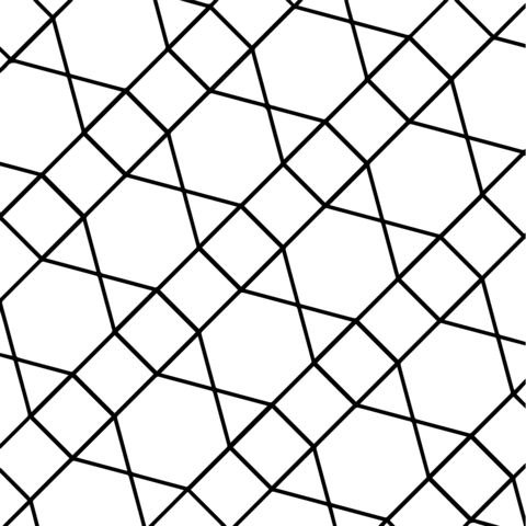 Geometric Tessellation with Hexagon, Triangle and Square