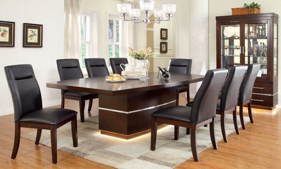 Solaare 9 Piece Dining Set Dining Room Sets Dining Set Room Set