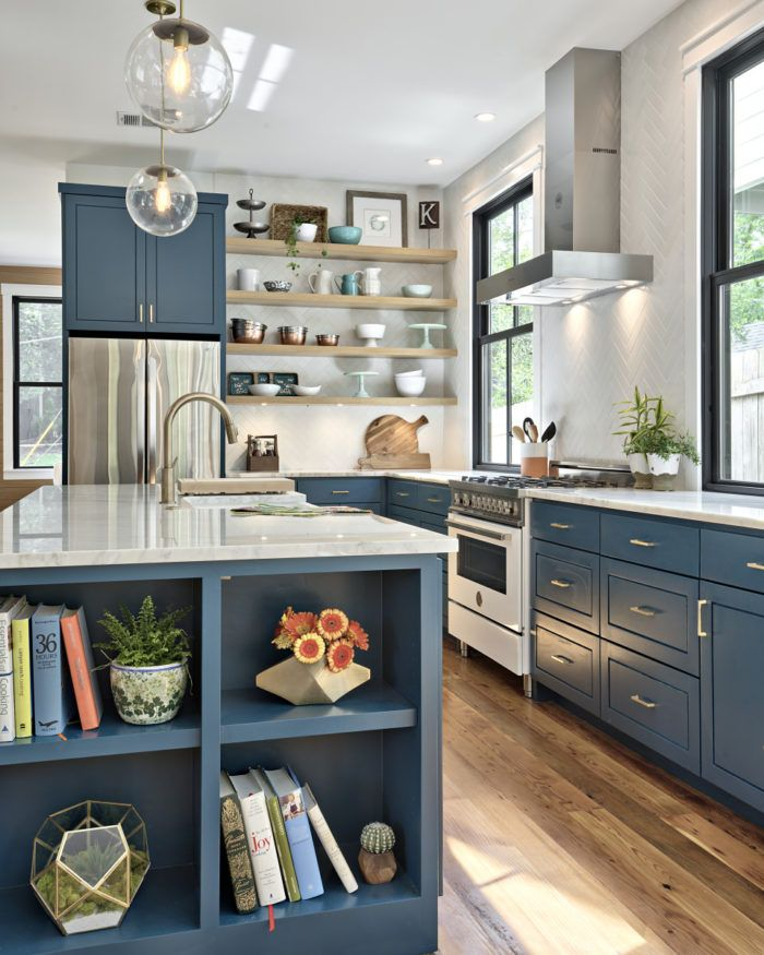 Open Kitchen Cabinet Designs: Turning A Tiny Cottage Into A Two-Story Modern Farmhouse