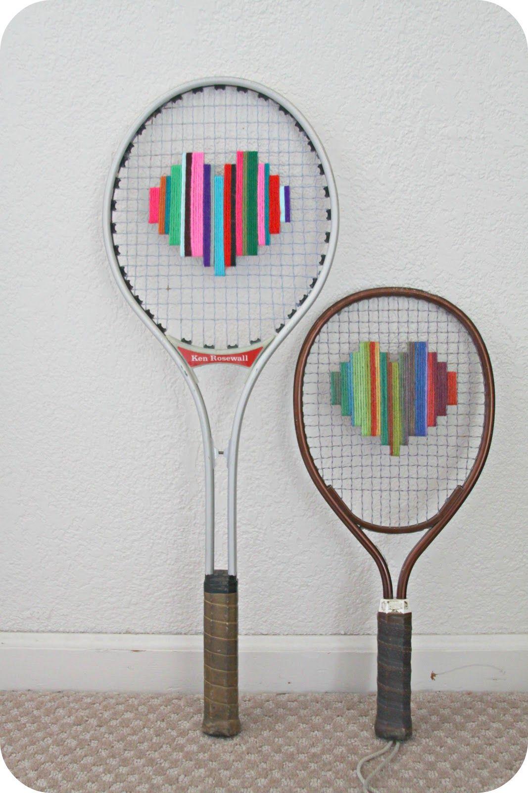 Whimsy Love Summer Diary Day 23 Tennis Racket Art Tennis Racket Art Tennis Crafts Tennis Racket