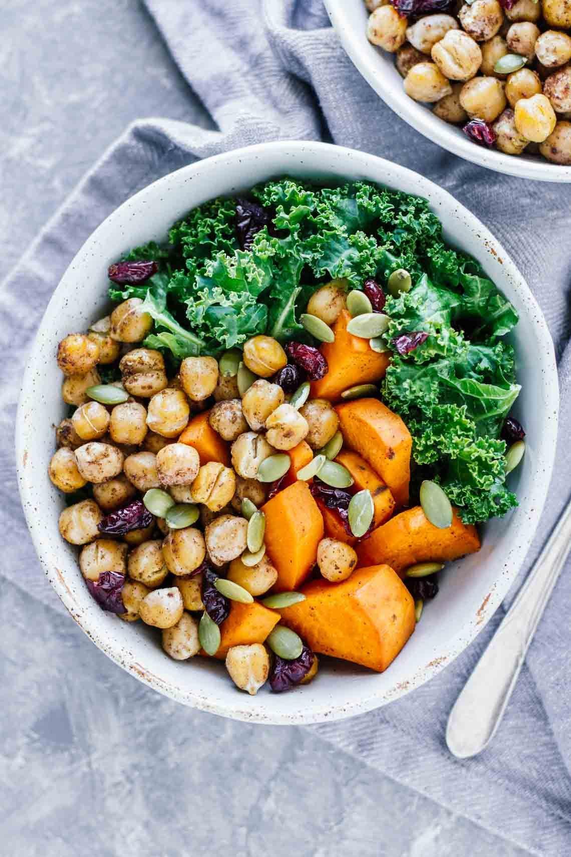 Vegan Winter Spiced Chickpea Power Bowl Jar Of Lemons Recipe Vegetarian Dinners Easy Vegetarian Dinner Vegetarian