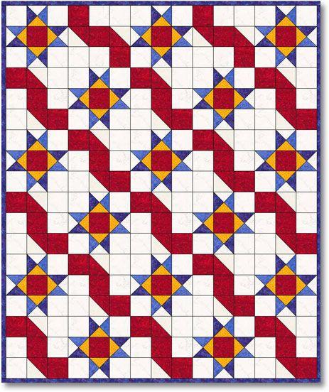 Estrellas Y Cintas (Ribbons & Stars) Quilt Kit