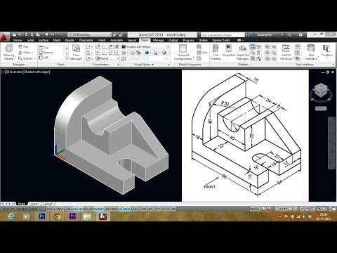 Autocad 3d Practice Drawing Sourcecad Youtube Autocad Revit Tutorial Mechanical Model