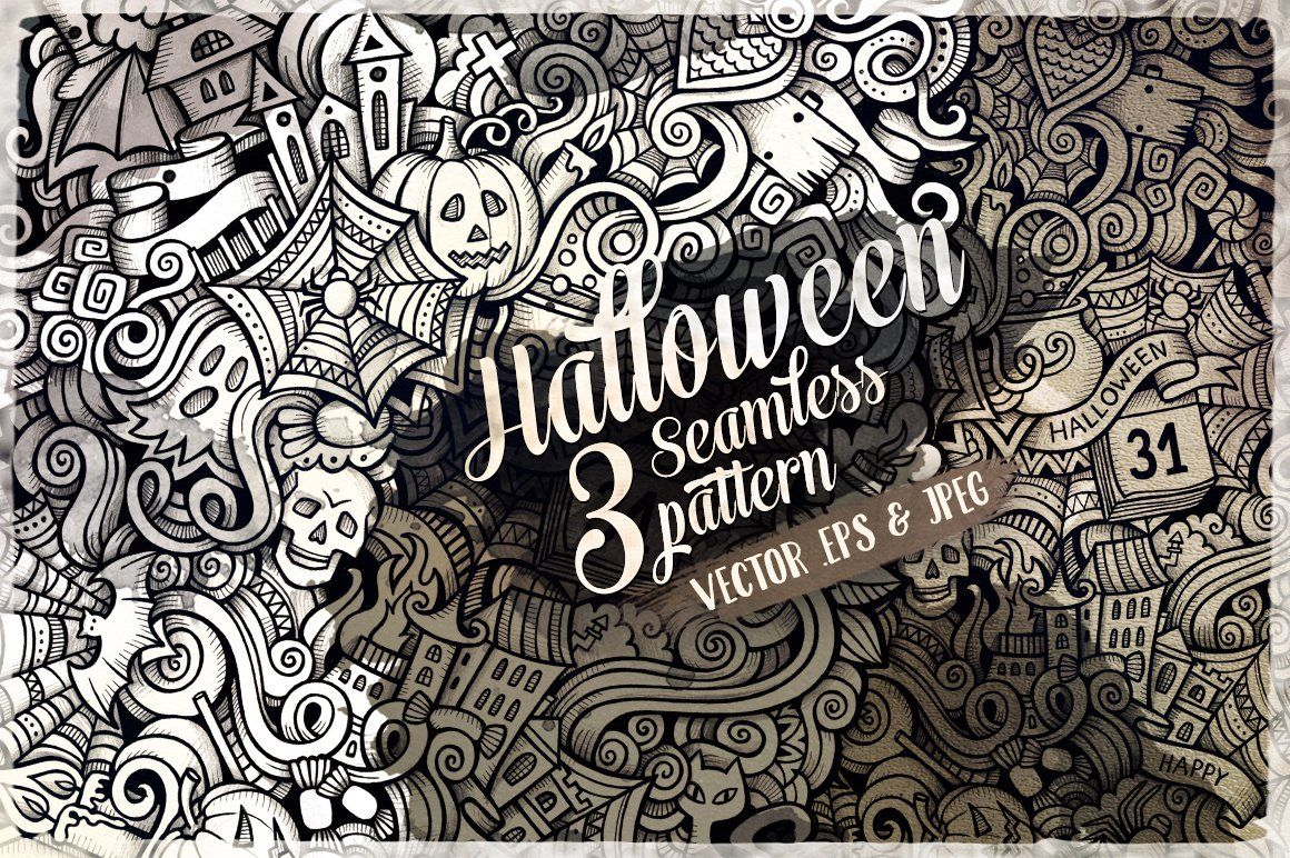 Halloween Doodles Art Patterns Halloween doodle, Pattern
