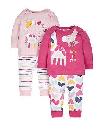 5d6caa0ba1bc Giraffe Pyjamas - 2 Pack