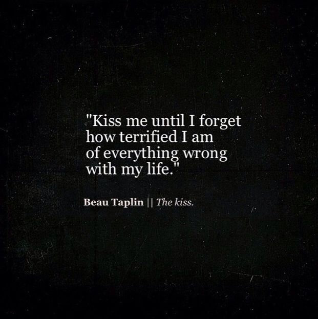 Kiss Me Until I Forget Everything That Is Wrong With My