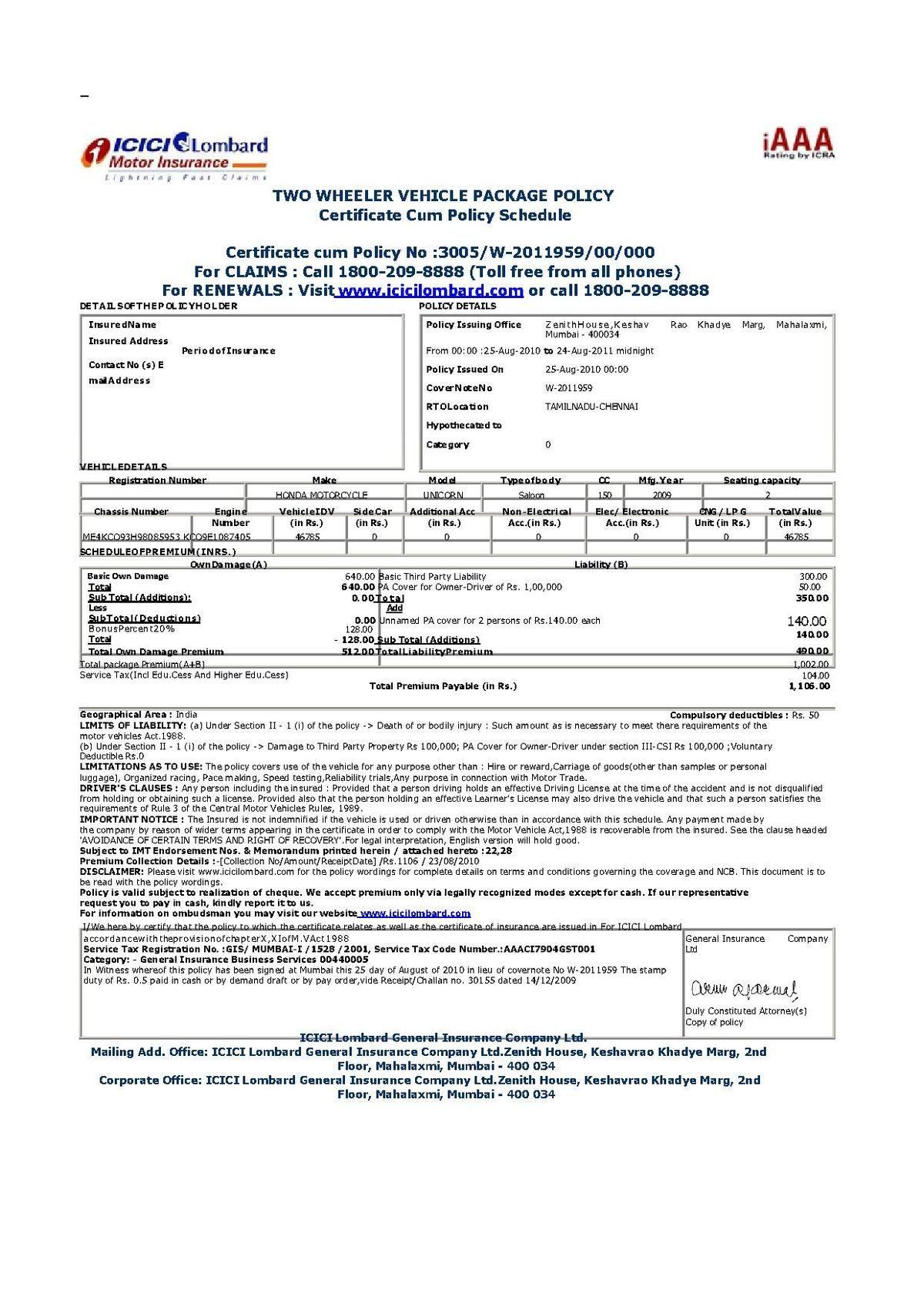 Filevehicle Insurance Certificate In India.pdf
