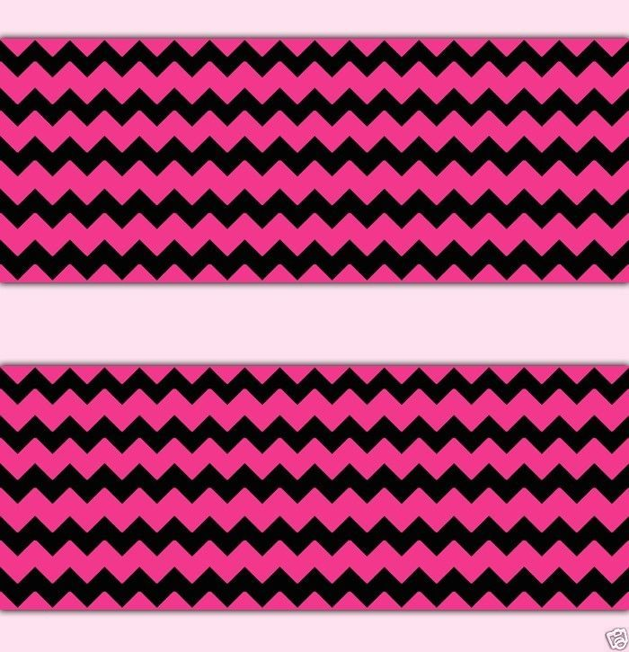 Hot Pink and Black Chevron Wallpaper Border Wall Decals for baby ...