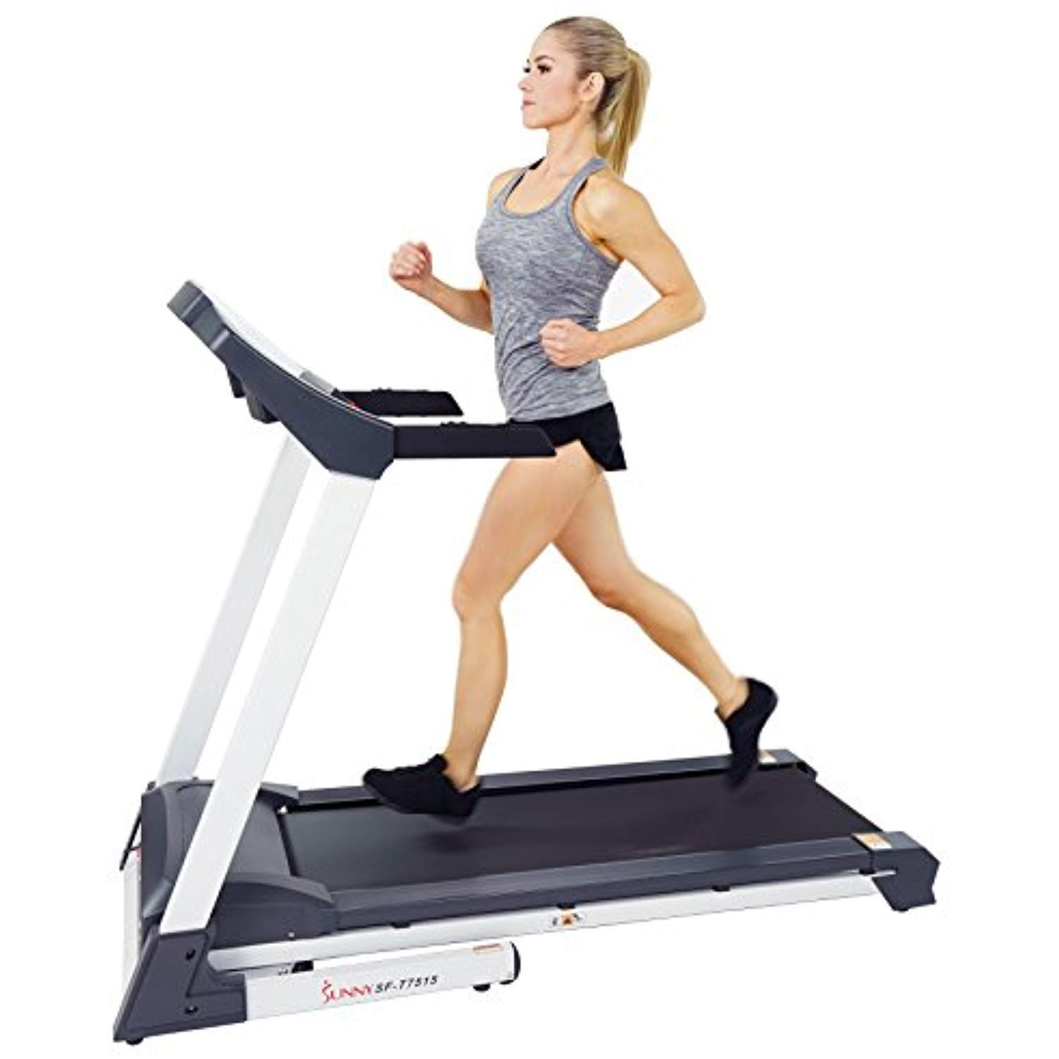 Sunny Health And Fitness Sf T7515 Smart Treadmill With Auto Incline Sound System Bluetooth And Phone Function Be Health Fitness Treadmill Good Treadmills