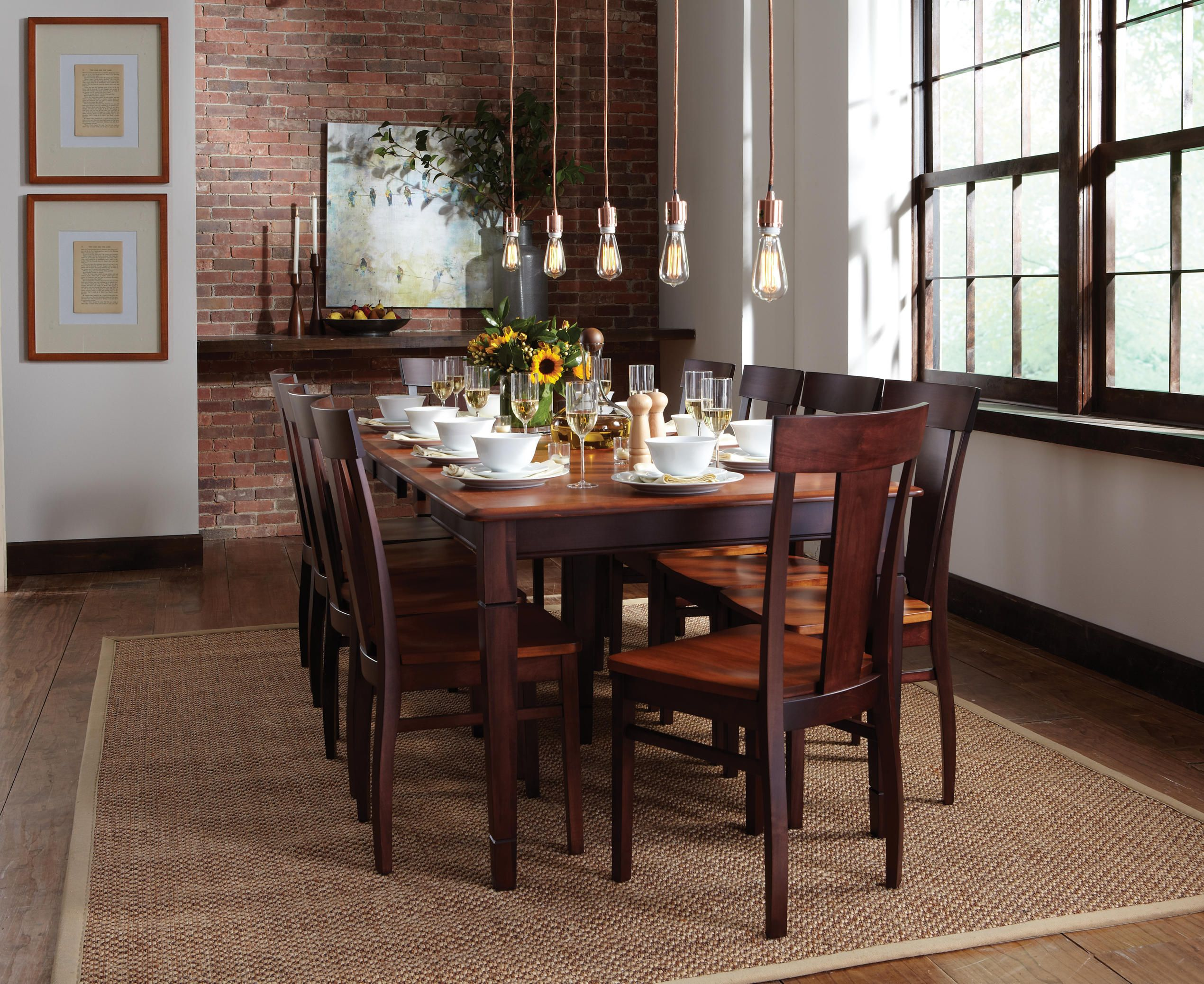 a smooth maple finish gives tasty appeal to the anniversary dining