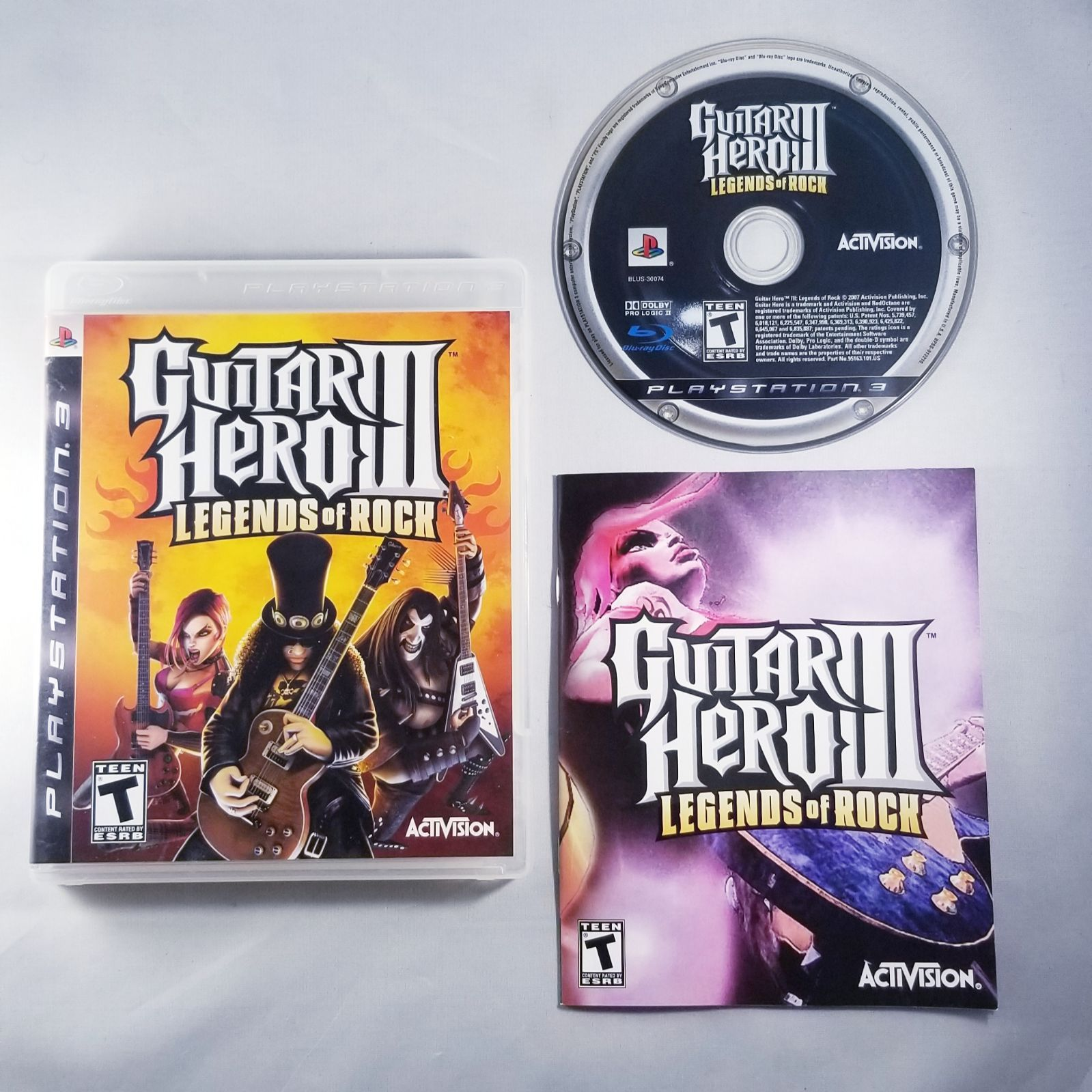Guitar hero 3 legends of rock game complete in box with