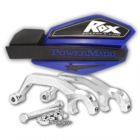 BLUE-PowerMadd Star Series Handguards w/Rox Billet Mounts Handguard Kit