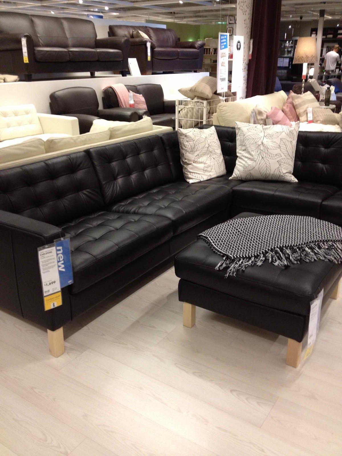 Ikea Karlsfors Black Ikea Leather Sofa Faux Leather Couch Black Leather Couch