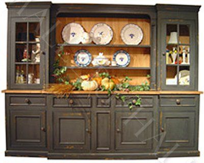 Beau Custom French Country China Cabinet Hutch As Shown With Extras